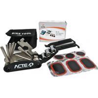 Kit De Ferramentas Acte Sports A4 Em Inox Para Reparo Em Bicicletas Preto