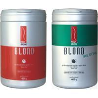 Red Iron Blond Pó Descolorante Forte + Red Iron Blond Free Style Pó Descolorante Extra Forte 2X 400G - Feminino-Incolor