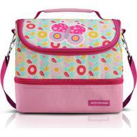 Lancheira Térmica Infantil Jacki Design Borboleta 2 Compartimentos Feminina - Feminino-Rosa