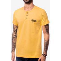 Camiseta Henley Amarela 104067