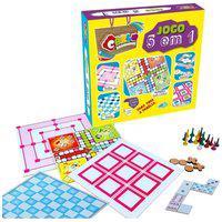 Kit De 5 Jogos - Dama Trilha Ludo Dominó Jogo Da Velha