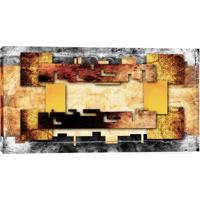 Quadro Abstrato Ocre 55X100Cm
