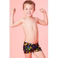 Sunga Kids Boxer Fundo Do Mar Proteção Uv Fps 50 Puket