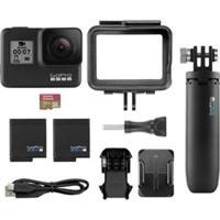 Câmera Digital Gopro Hero7 Black Com 12Mp + Bateria Extra + Cartão Sd 32Gb + Acessório Shorty