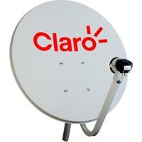 Antena Mini Parabólica 60Cm Claro Pré, Multiponto, Sem Receptor