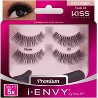 Cílios Postiços Kiss Ny - I-Envy Nude 03 Pack Duplo - Unissex