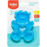Mordedor Bebê Buba Gelado Com Água Ursinho - Unissex-Azul