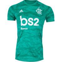 Camisa De Goleiro Do Flamengo 2019 Adidas Com Patrocínio Bs2 - Masculina - Azul Claro