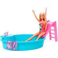 Boneca Barbie Piscina Chique Com Boneca Mattel