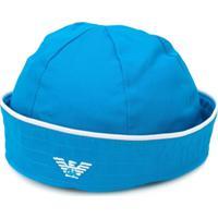 Emporio Armani Kids Chapéu Com Logo - Azul