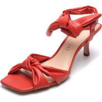 Sandália Cecconello Nó Vermelha
