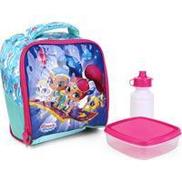 Lancheira Escolar Xeryus Shimmer & Shine Magic Carpet Feminina - Feminino-Pink