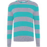 Sweater Masculino Rugby Stripe - Verde