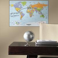 Adesivo De Parede Rabisque Mapa Mundi