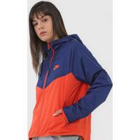 Jaqueta Corta Vento Nike Sportswear Nsw Wr Jkt Azul-Marinho/Laranja