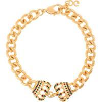 Dolce & Gabbana Pulseira Com Detalhe De Coroas - Dourado