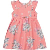 Vestido Bebê Floral Rosa - Fakini