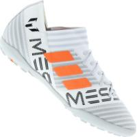 Chuteira Society Adidas Nemeziz Messi Tango 17.3 Tf - Infantil - Branco/Cinza