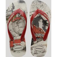 Chinelo Masculino Havaianas Top Harry Potter Bege Claro