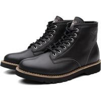 Bota Coturno Black Boots Dublin Masculina - Masculino-Preto