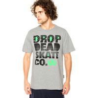 Camiseta Drop Dead Photocopy Cinza