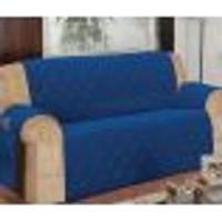 Protetor Para Sofá De 04 Lugares Com Assento De 2,70M Matelado Microfibra Lú Azul