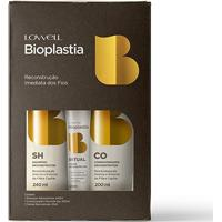 Kit Lowell Bioplastia Shampoo 240Ml + Condicionador 200Ml + Creme Reconstrutor 25Ml - Feminino-Incolor