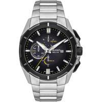 Relógio Orient Masculino Mbssc212 P1Sx Pulseira E Caixa Aço Prateado Mostrador Preto