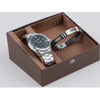 078f68f7f59 CEA  Kit De Relógio Analógico Mondaine Masculino + Pulseira -  83461G0Mvne1Ka Prateado - Único