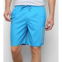 Shorts Adidas 3S Cl Masculino - Masculino-Azul Piscina+Azul Claro