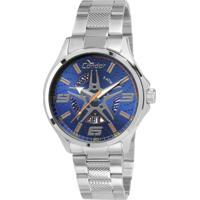 Relógio Condor Masculino Calotas - Masculino-Prata+Azul