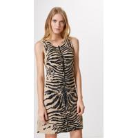 Vestido Bordado Pedrarias Feline Fur-Est. Feline Fur - M