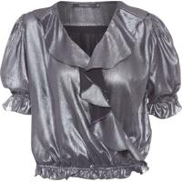 Blusa Feminina Shine - Prata