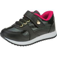 Tênis Jogging Joys Shoes Casual Velcro Preto