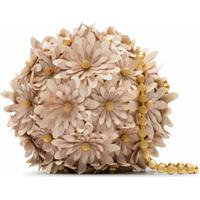 Vanina Bolsa Tiracolo Com Flores - Neutro