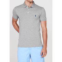 Camisa Polo Ralph Lauren Logo Cinza