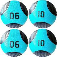 Kit 4 Medicine Ball Liveup Pro 6 E 10 Kg Bola De Peso Treino Funcional - Unissex
