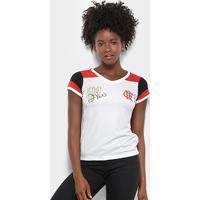 6292bc48ac Netshoes  Camiseta Flamengo Zico Nº 81 Retrô Feminina - Feminino