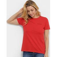 Blusa Calvin Klein Logo Feminina - Feminino-Vermelho