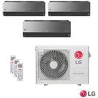 Ar Condicionado Multi Split Artcool Inverter Lg Com 2X 8.500 Btus + 11.900 Btus, Quente E Frio, Turbo Espelhado