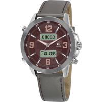 Relógio Analógico Digital Seculus Masculino - 20816G0Sgnr2 Chumbo
