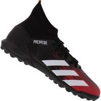 Chuteira Society Adidas Predator 20.3 Tf - Adulto - Preto/Branco