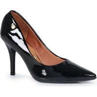 Sapato Scarpin Feminino Vizzano Verniz Preto
