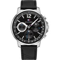 Relógio Tommy Hilfiger Masculino Couro Preto - 1791544