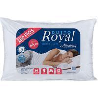 Travesseiro Royal- Branco- 70X50Cm- 180 Fiosaltenburg