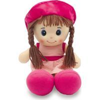 Boneca De Pano 40Cm - Rosa - Unik Toys