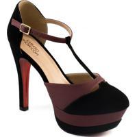 Scarpin Aberto Tiras Numeração Especial Sapato Show 1450035