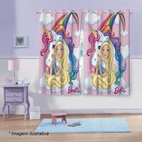 Cortina Infantil Barbieâ® Reinos Mã¡Gicos- Rosa & Azul Clalepper