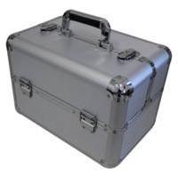 Maleta Maquiagem Aluminio Grande Prata Ry1038