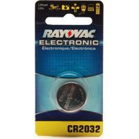 Bateria Rayovac Electrônica Cr2032 Litio Com 1 Unidade